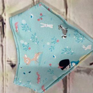 Dribble Bib (Snow White Design on Green Jersey Fabric)