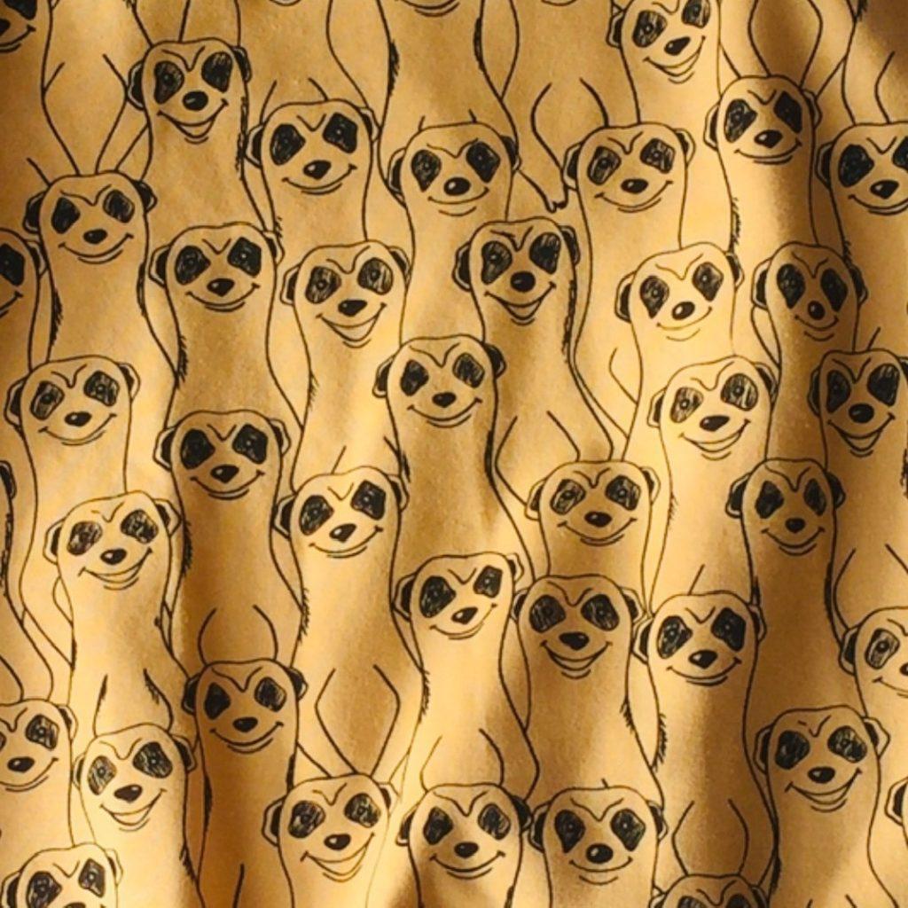 Meerkat Design Print on Jersey Fabric