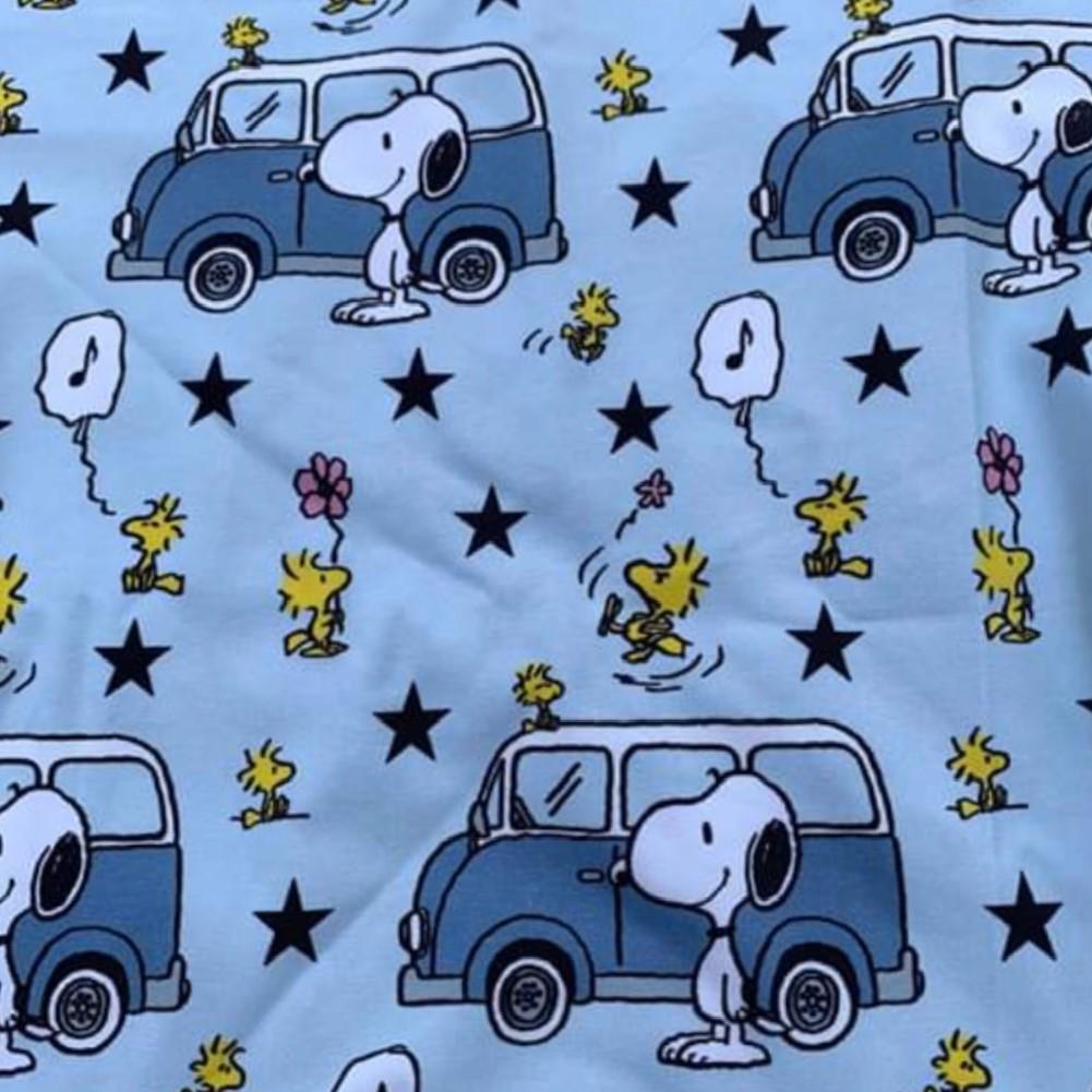 Snoopy Print Design on Jersey Fabric