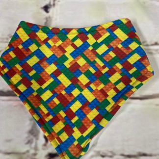 Dribble Bib (Colourful Lego Design on Jersey Fabric)
