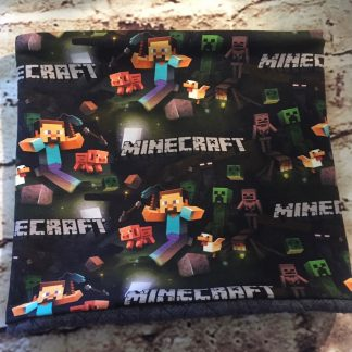 Snood/Neck Warmer - Minecraft Jersey Fabric with Dark Grey Inner
