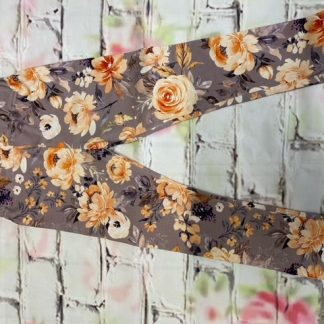 Leggings (Lycra and Jersey) - Autumn Flowers Design (Various sizes)