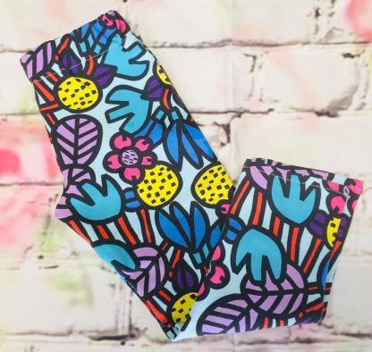 Leggings (Lycra and Jersey) - Funky Flowers Design (Various sizes)