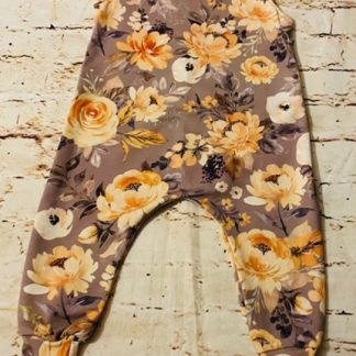 Romper (half lined) Autumn Flower Design (Various Sizes)