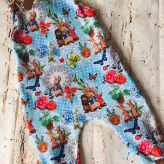 Romper (half lined) Peter Rabbit Design (Various Sizes)