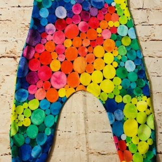 Romper (half lined) Rainbow Pompom Design (Various Sizes)