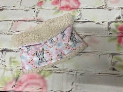 Snood Neck Warmer - Bunny Design Jersey with Cream Fluffy Inside.jpeg
