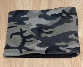 Snood Neck Warmer - Grey Army Jersey with Dark Grey Jersey Fleece Inside
