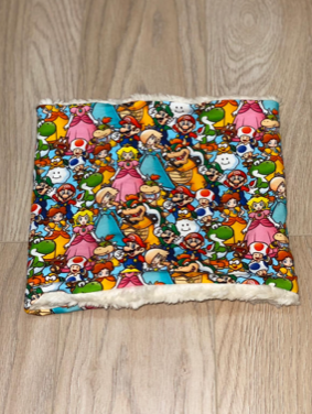Snood Neck Warmer - Nintendo Characters Jersey with Fluffy Inside