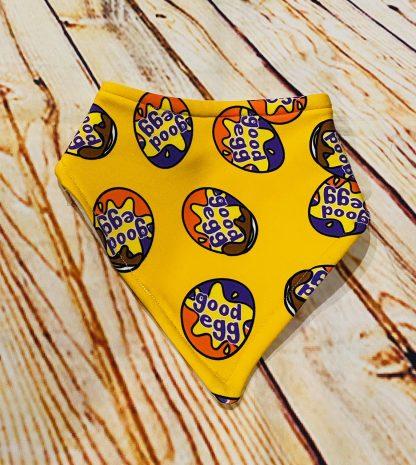 Dribble Bib Good Egg on Yellow