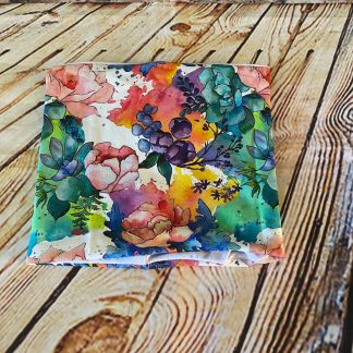 Snood Bright Water Coloured Flowers