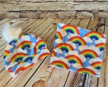 Snood & Hat Set (Rainbow Design)