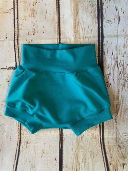 Bubble Shorts in Blue Green
