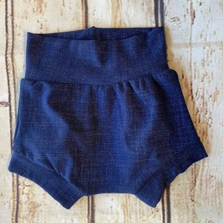 Bubble Shorts in Dark Denim Effect Jersey
