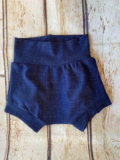 Bubble Shorts in Dark Denim Effect Jersey