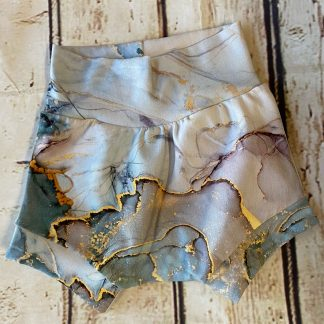 Bubble Shorts in Gold and Mono Marble