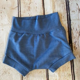 Bubble Shorts in Light Denim Effect Jersey