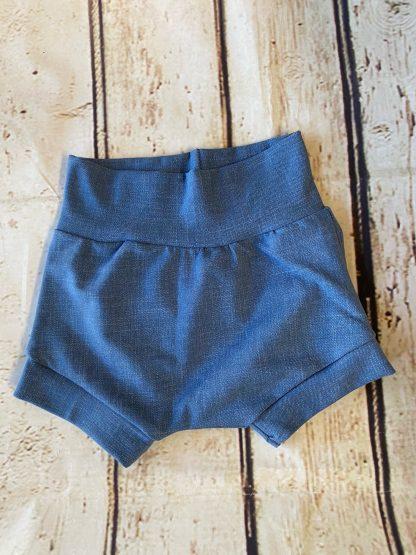 Bubble Shorts in Light Denim Effect Jersey
