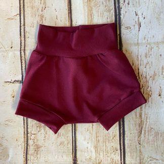 Bubble Shorts in Maroon